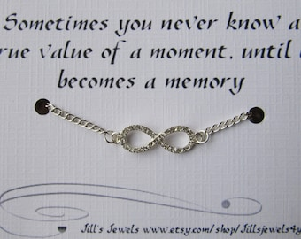 Infinity Love Quotes Extraordinary Rhinestone Infinity Love Charm Bracelet With Crystal And Love