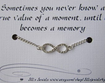 Infinity Love Quotes Cool Rhinestone Infinity Love Charm Bracelet With Crystal And Love