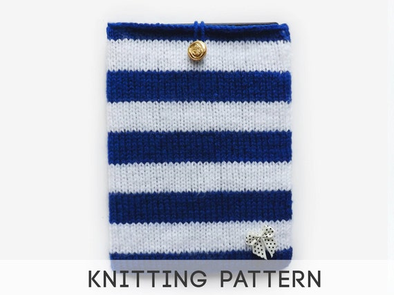 Kindle Knitting Patterns : PDF Knitting Pattern Tablet Case iPad Mini Case by CeruleanUK