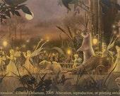 "SUMMER PROCESSION (Unframed 36""x18"" Giclée Print) Fairy Art / Faery Art  by David Delamare"