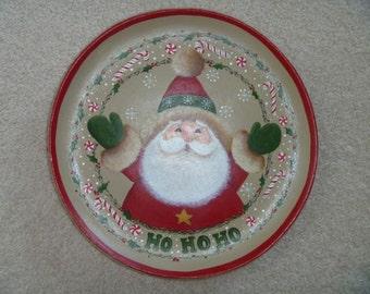 Painted Santa Plate