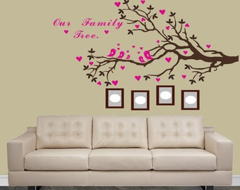Family Tree Branch Wall Decal  Custom Family Tree   Vinyl Decal Art,  Photou0027s On