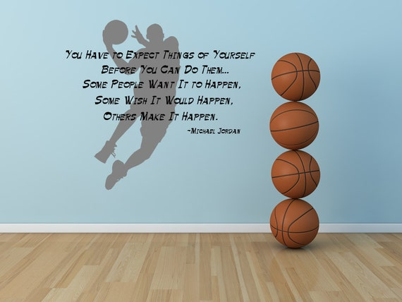 michael jordan inspirational quote by vinylwalllettering