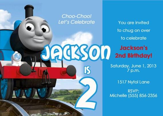 items similar to thomas the train birthday party invitation custom printable thomas the tank