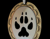 Wolf Paw sterling silver/brass pendant, handmade, handcrafted, handfabricated