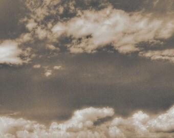 Clouds-photography, black & white, nature, landscape