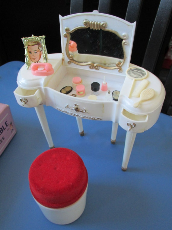 1960 S Marx Little Hostess Dressing Table With Accessories
