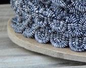 Custom listing for Peta: Black and White Vintage Wave Trim