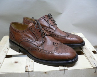 Vintage Oxford  Dress Shoes , Italian custom made CALPIERRE...(044)