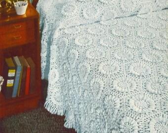 Sunflower Bedspread Crochet Pattern