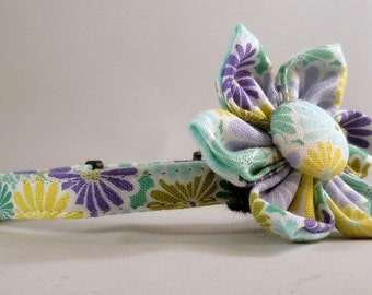 Cat Collar or Kitten Collar with Flower or Bow Tie - Terrain