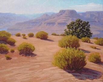 Arizona 'Desert View' Grand Canyon original Landscape Painting, plein air, oil, Southwestern, National Park, Southwest art