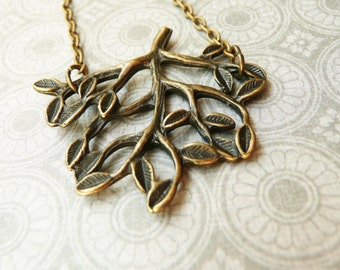 50% OFF Necklace, Leafy Branch Necklace: 1