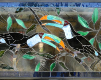 TOUCAN PARADISE PANEL Stained Glass