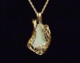 14ky gf Opal Freeform Pendant