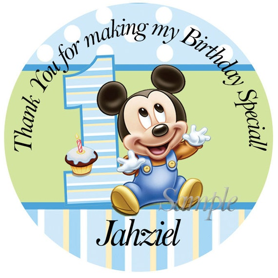 Personalized Stickers Baby Mickey Mouse, 1st Birthday Personalized ...: https://www.etsy.com/listing/125574567/personalized-stickers-baby...