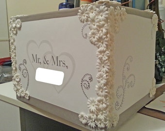 Customized Wedding Card Box with Hearts