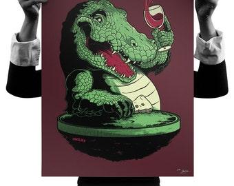 Party Croc 18x24 Silk Screen Print