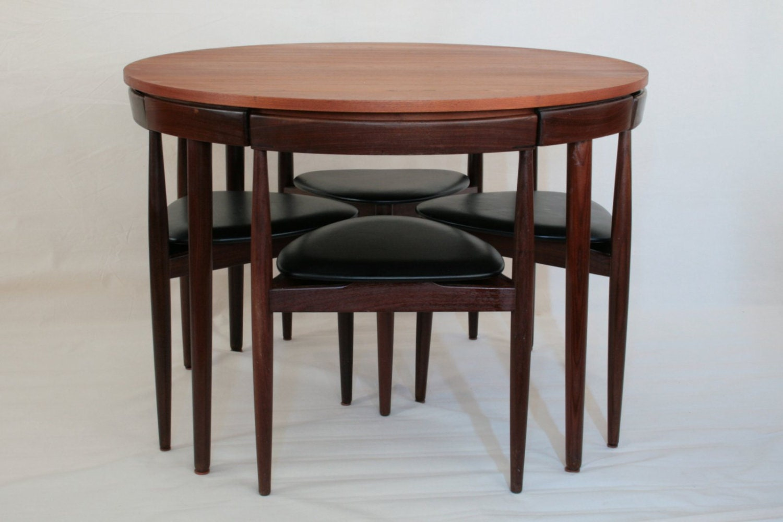 Roundette Dining Set By Hans Olsen For Frem Rojle In Teakwood