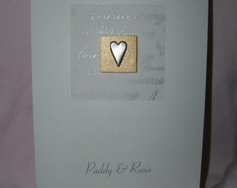 Lovely handmade Personalised Personalized Wedding Anniversary card
