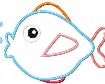 Fish Machine Embroidery Design