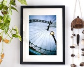 "London Eye photography. A4 (8,2""x 11,7"") Photography of London. England. Urban Photography. Fine Art Photography. Art. Home Decor. Europe."
