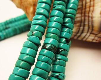 "16""   Green  turquoise heishi beads"