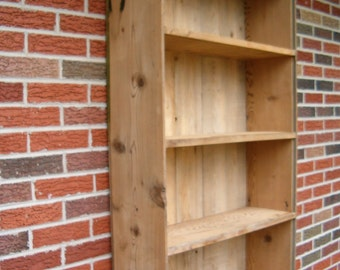 Reclaimed Barn Wood Book Case Display Cabinet Upper