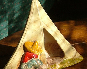 Vintage Mexican-Teepee incense burner
