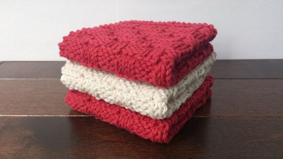 tricoter une lavette en coton