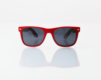 SALE!!! 50% OFF COMPTON: Red Acetate/Bamboo Sunglasses
