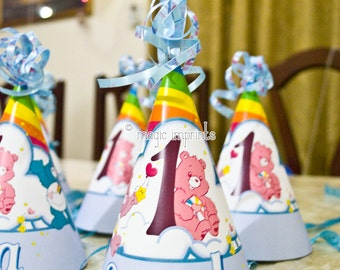 Care Bears party hat (PRINTABLE)