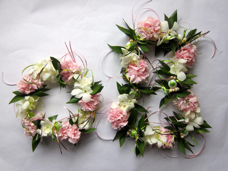 Custom Signature Fresh Flower Lei and Haku Head by LeisForKokomo