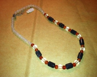 Rose Quartz, Goldstone, Carnelian Necklace