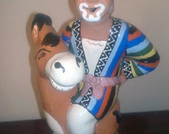 Uzbek National Souvenir Ceramic Toy Doll Humour Figurine
