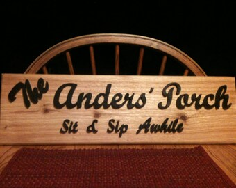 Custom Personalized Rustic Sign