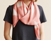 Naturally Dyed Bamboo Scarf - Geometric Pink