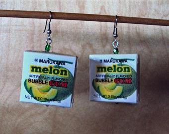 JAPANESE Bubble Gum earrings - MELON