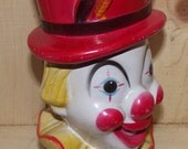 Retro Circus Clown Coin Bank