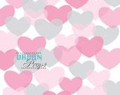 Hearts Backdrop SWEET HEARTS 5 Ft X 5 Ft Vinyl Backdrop for Events Newborn Photo shoot, Mini Sessions