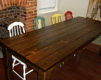talbot dining table farmhouse reclaimed wood custom. Black Bedroom Furniture Sets. Home Design Ideas