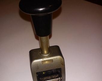 Vintage Rexel ENM Dating Stamp Machine