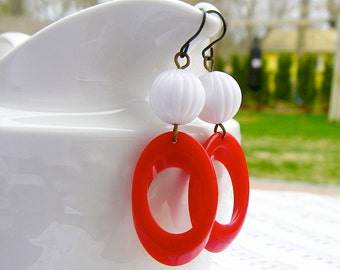 Retro Red earrings