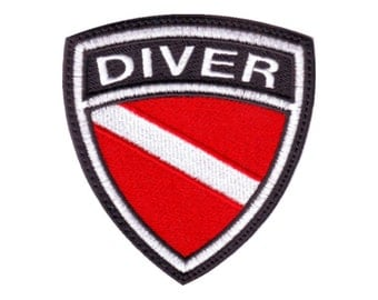 Scuba Diver Crest Flag Embroidered  Patch
