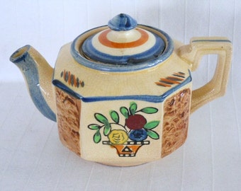 Hotta Yu Shoten Tea for One or Child's Ceramic Antique Teapot 1920s/40s Japan