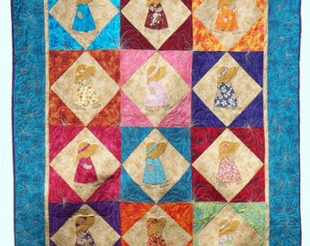 Sunbonnet Sue Hawaiian Quilt Pattern