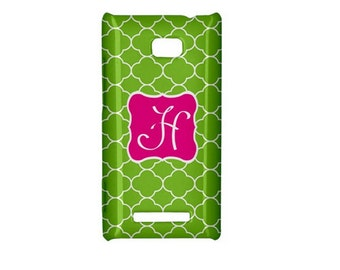 SALE-Personalized HTC 8X Phone Case- Mix and Match Design