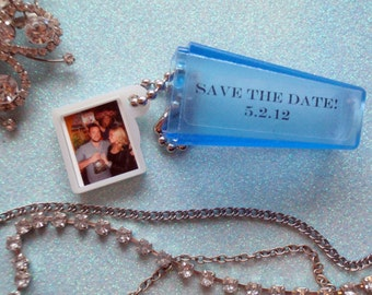 Custom Photo & Words in Viewfinder with Gift Bags. 75 Great Wedding Favors, Invitation, Save the Date