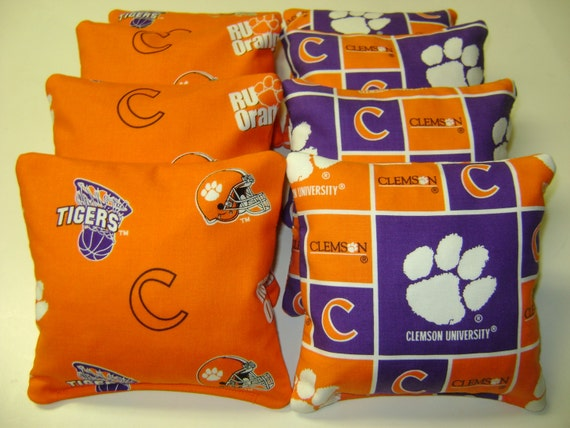 Clemson Tigers CORNHOLE BEAN BAGS 8 Tailgate By
