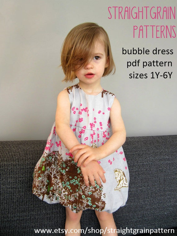 Bubble dress pattern - sizes 1 to 6 years
